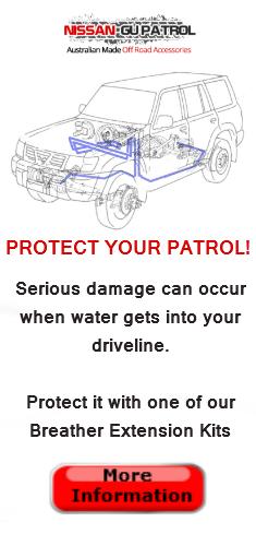 Diff breather kit Nissan GU Patrol river crossing fail